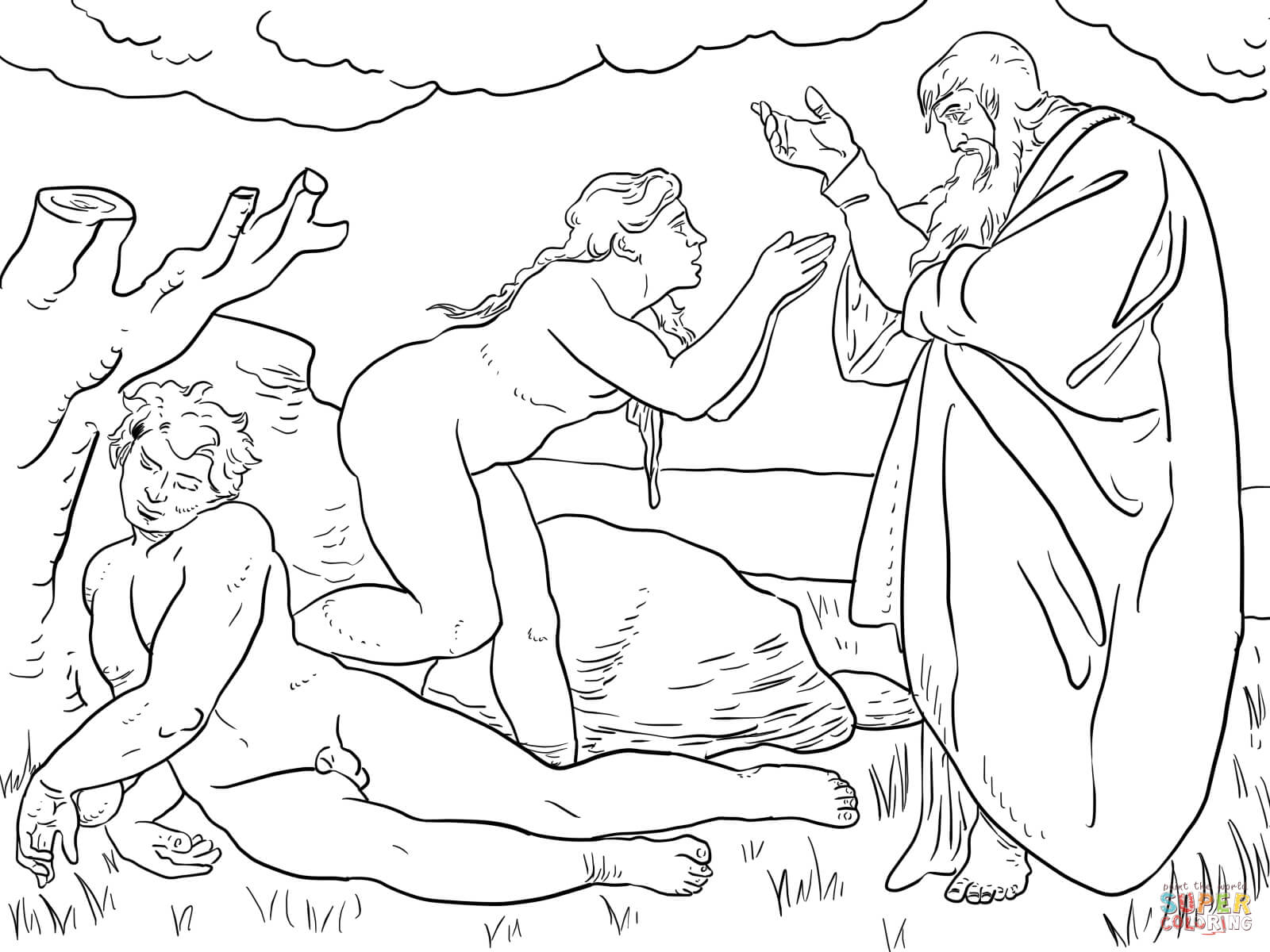 free printable coloring pages of creation story coloring home