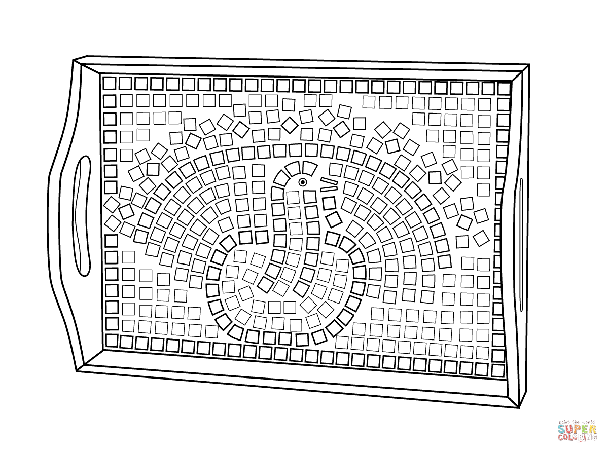 Roman mosaic coloring pages az coloring pages for Mosaic coloring pages free printable