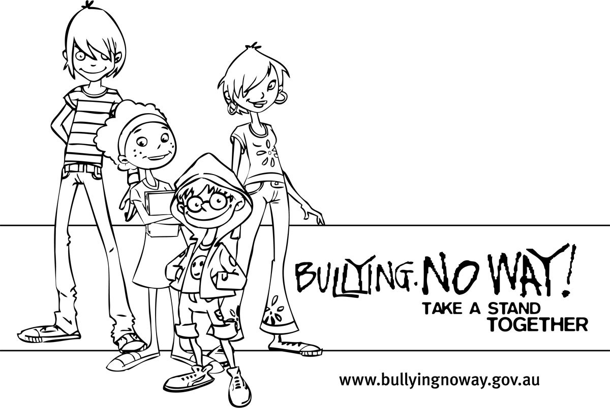 Adult Best Stop Bullying Coloring Pages Images top anti bullying day coloring pages for kids and colouring images