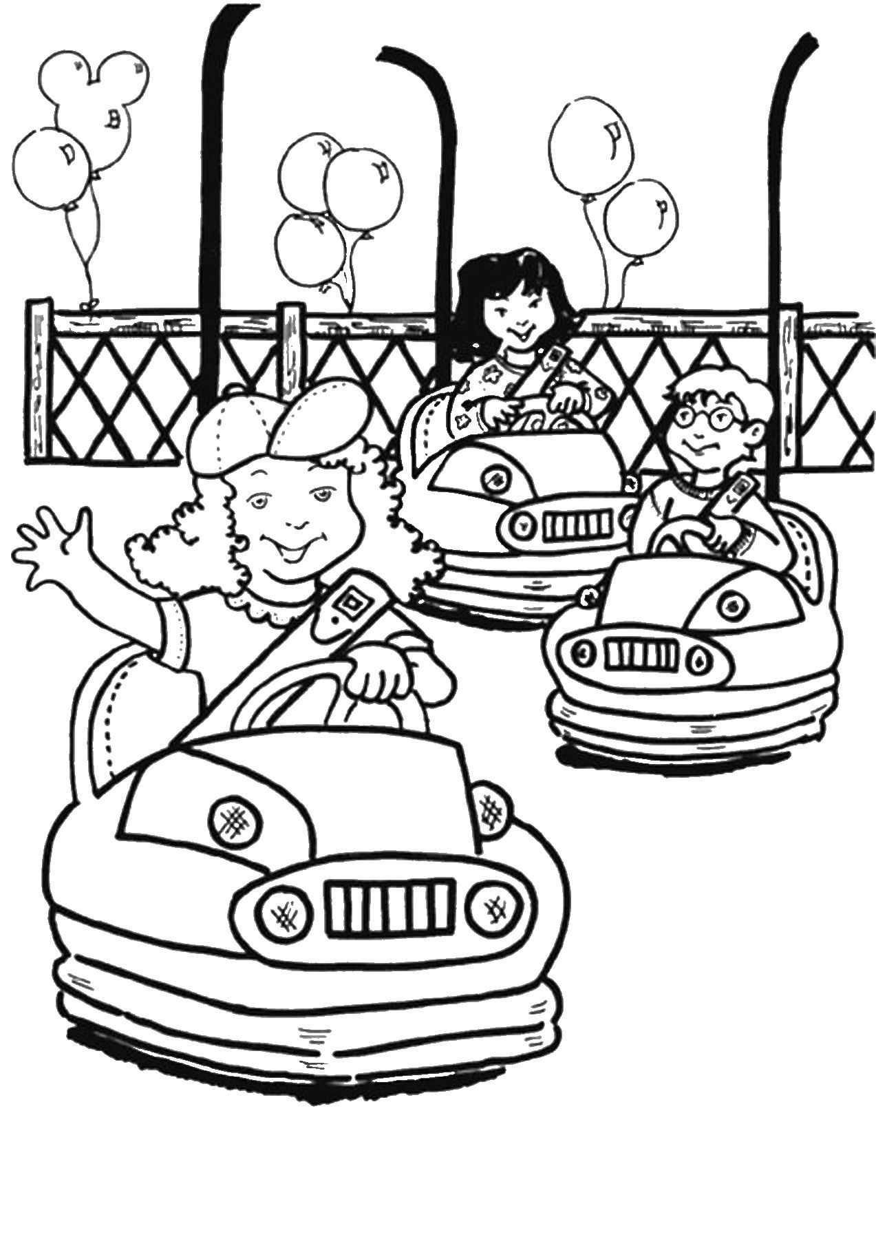 amusement park coloring pages coloring home