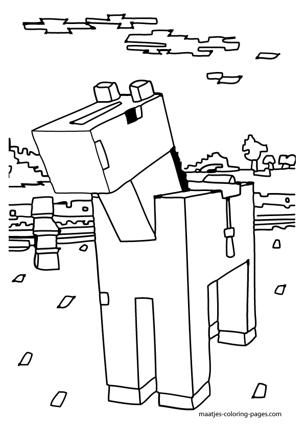 Minecraft Coloring Pages Cat - Coloring Home