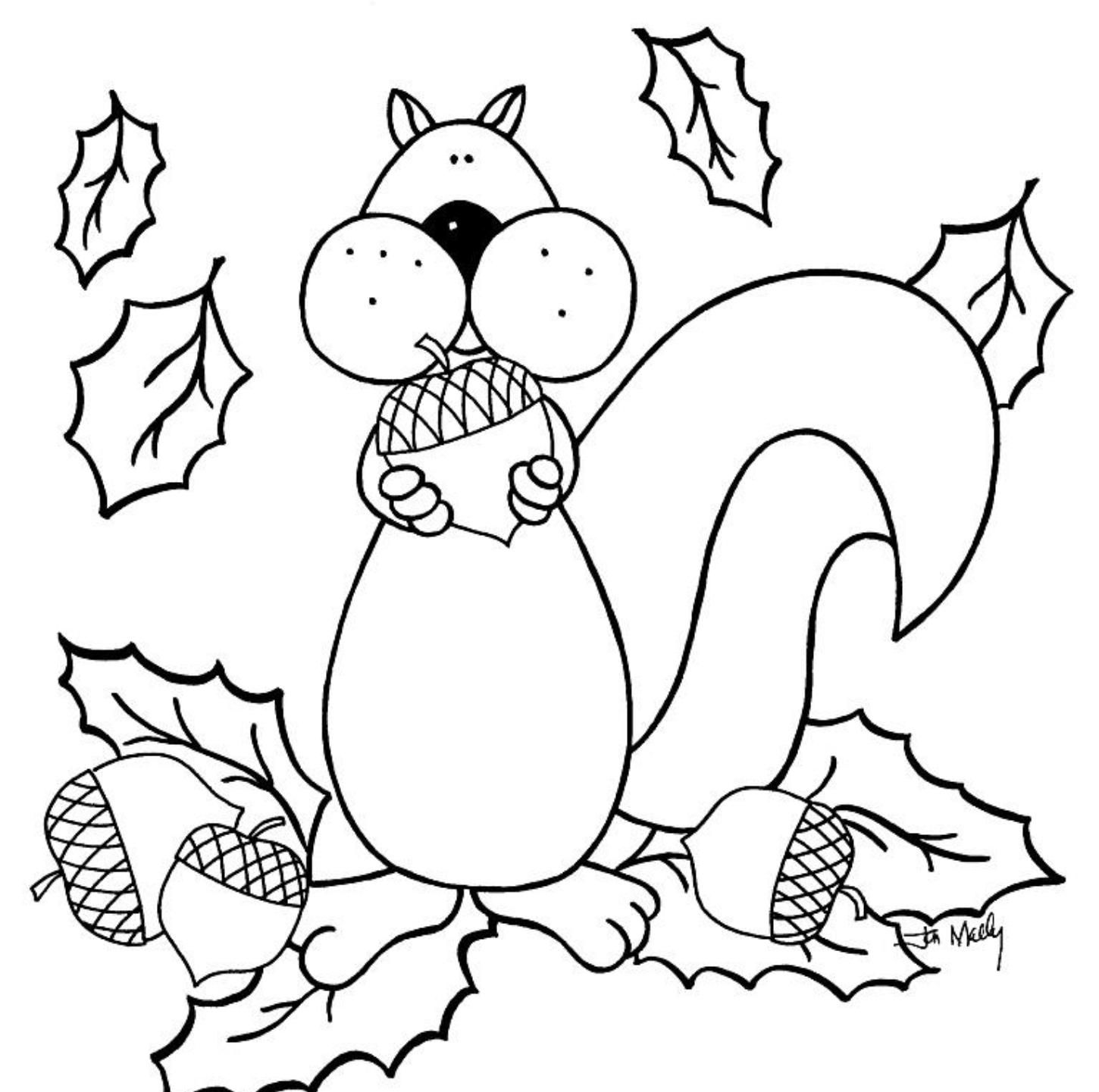 Free Fall Coloring Page  Coloring Home