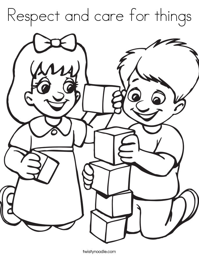 Respect and care for things Coloring Page - Twisty Noodle