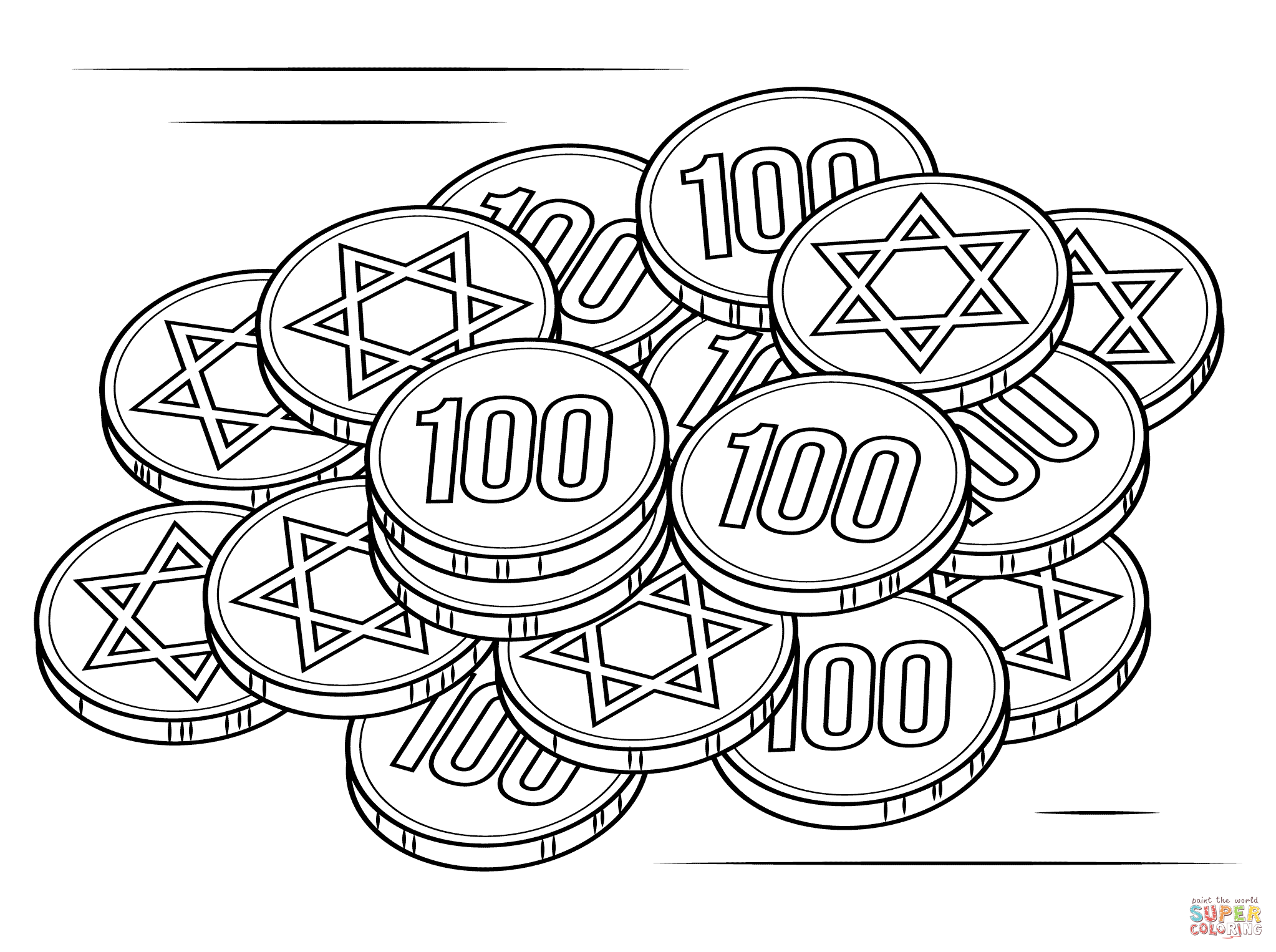 mini coloring pages of hanukkah - photo#37