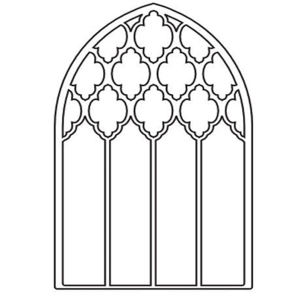 window frame coloring pages - photo#26