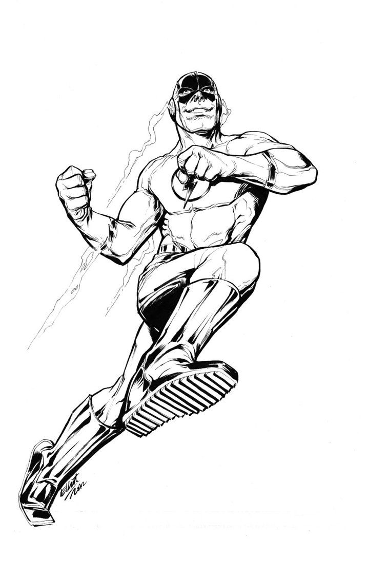 The Flash Coloring Page