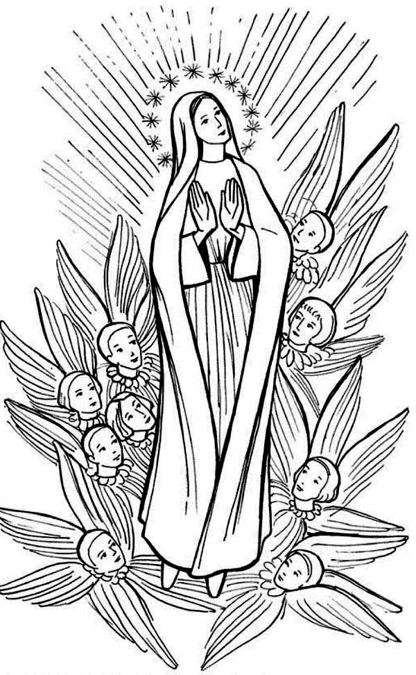 Printable Coloring Pages Virgin Mary : Virgin Mary Coloring Pages Coloring Home