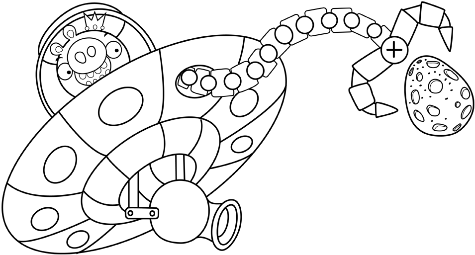 Color Angry Birds Space Pigs Coloring Pages