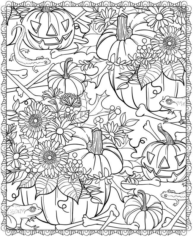Free Pumpkin Patch Coloring Pages
