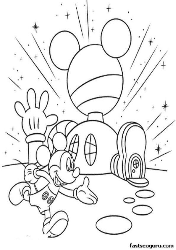 Free Coloring Pages Mickey Mouse Clubhouse