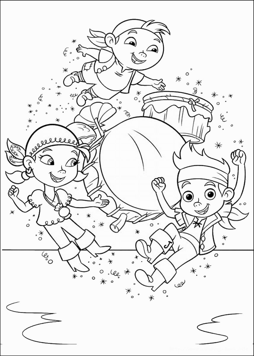 jake and the neverland pirates coloring pages - photo #18