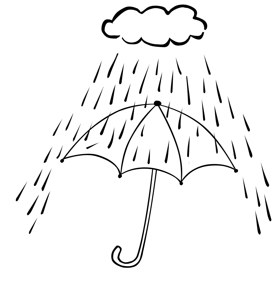 Cloudy Day Coloring Pages Rainy Day Coloring Pages Free. Kids ...