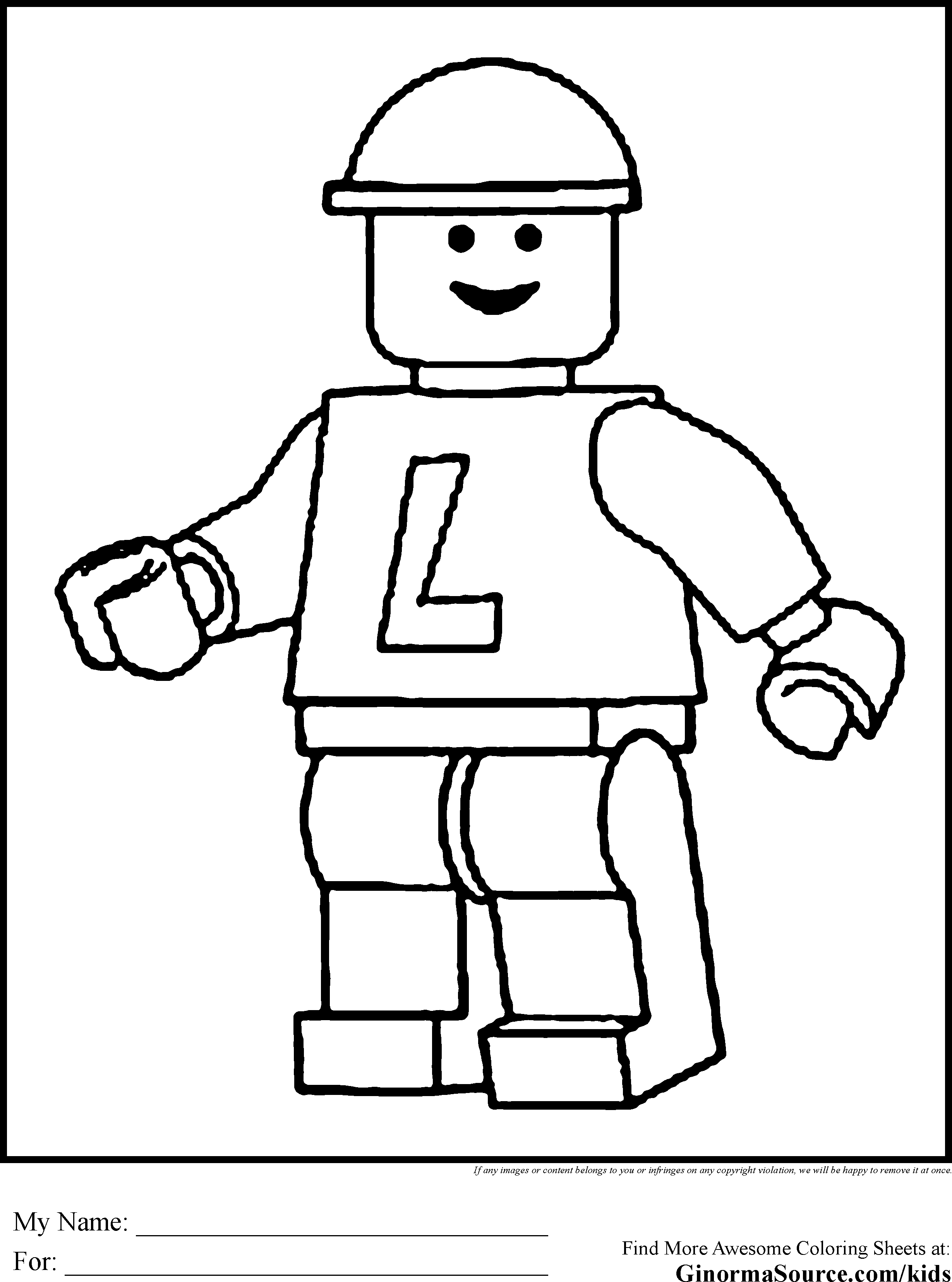 Lego Man Coloring Page For House Cool Coloring Pages And Coloring