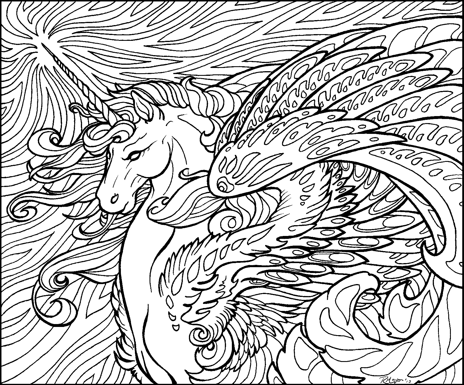 hard unicorn coloring pages - cool hard coloring pages coloring home