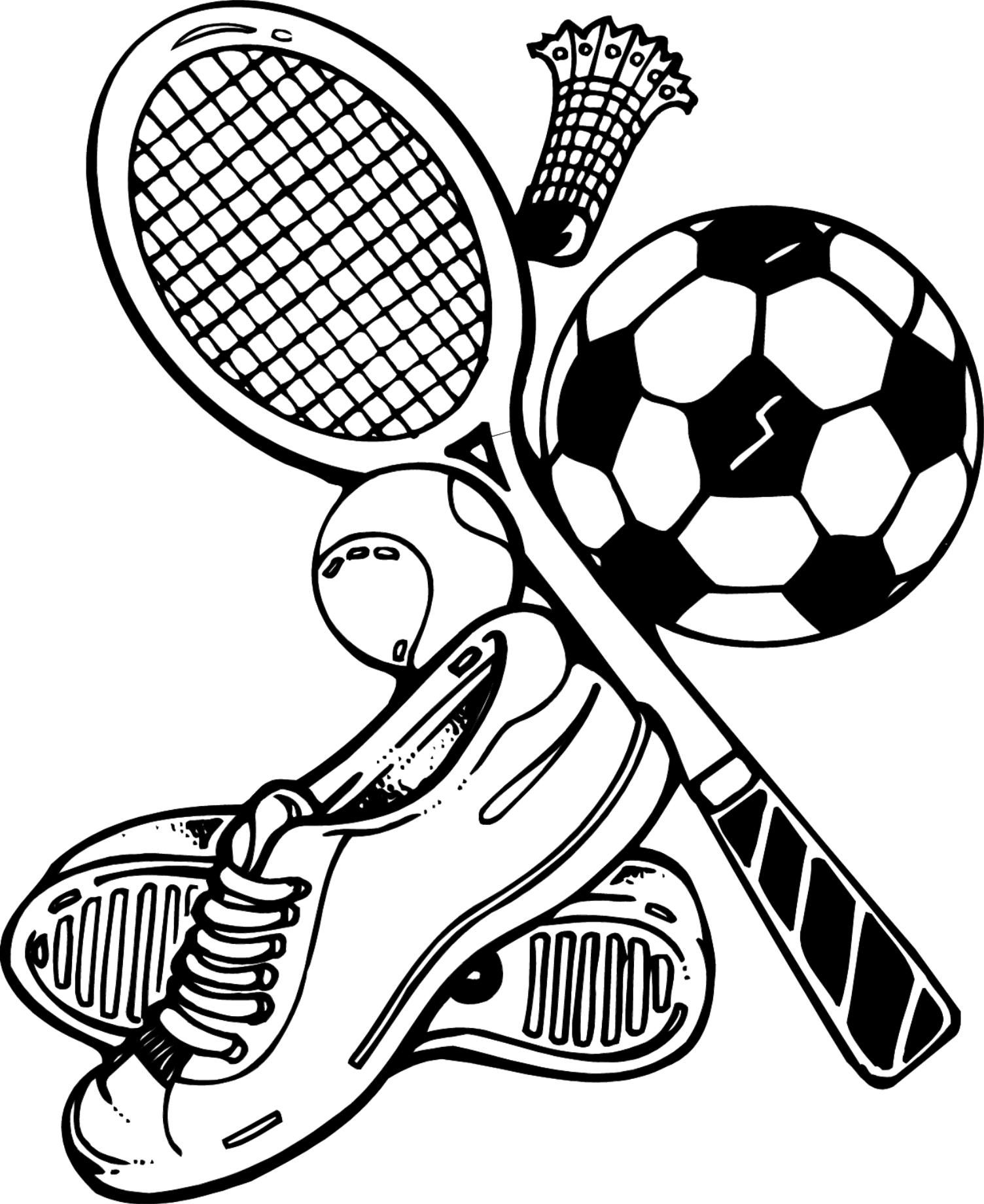 P e coloring pages - Free Sports Equipment Coloring Pages To Print Gianfreda Net