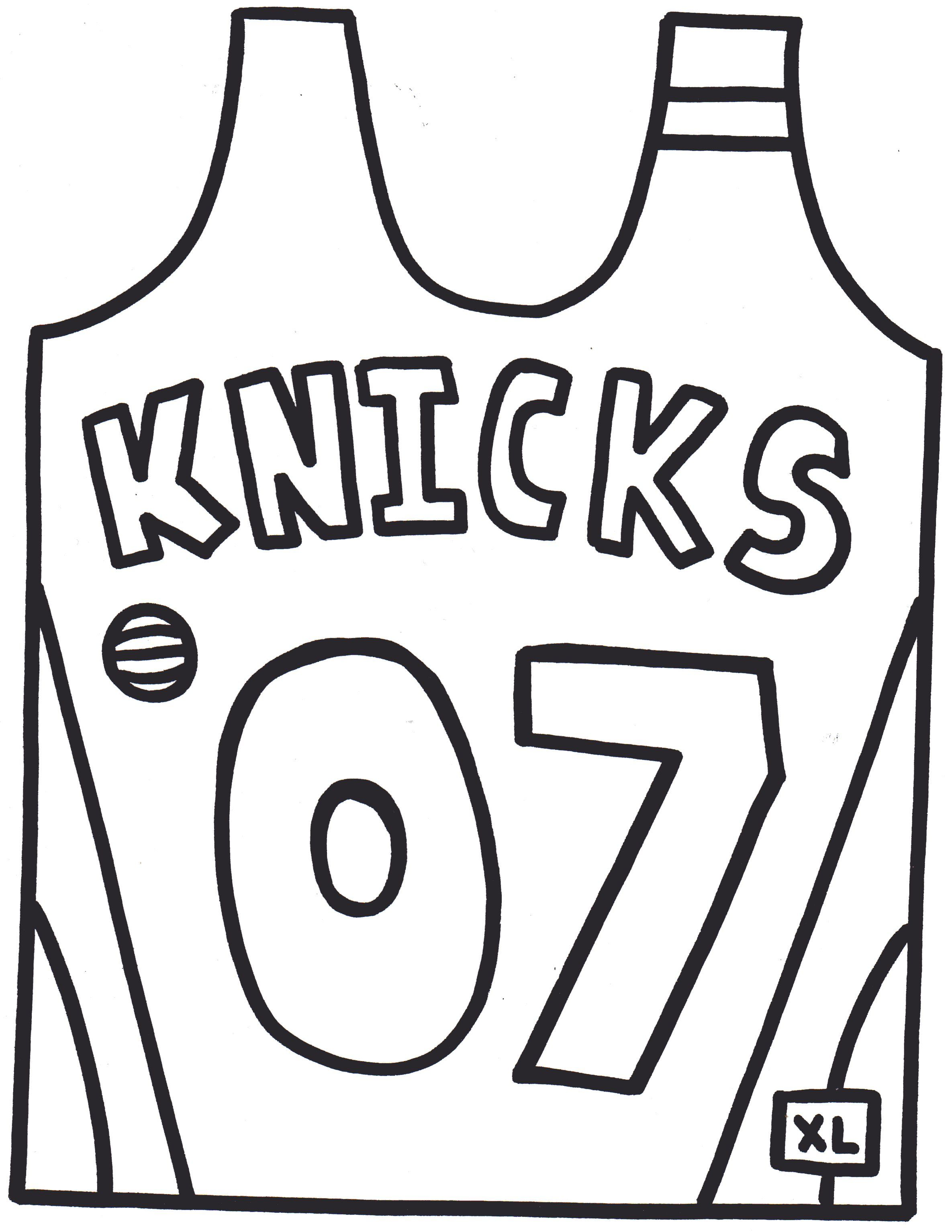 Blank Football Jersey Coloring