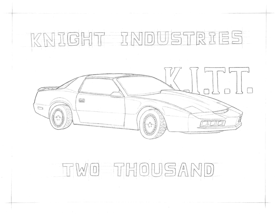 Knight Rider Kitt Coloring Pages Sketch Page Home Team