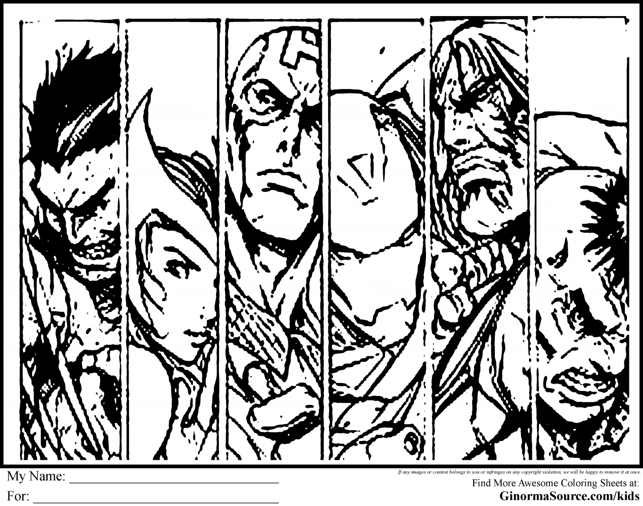 avengers coloring pages a400 - photo#12