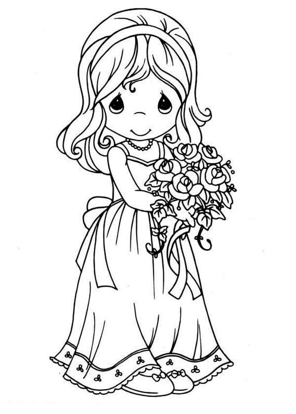 Precious Moments coloring pages on ColoringBookinfo