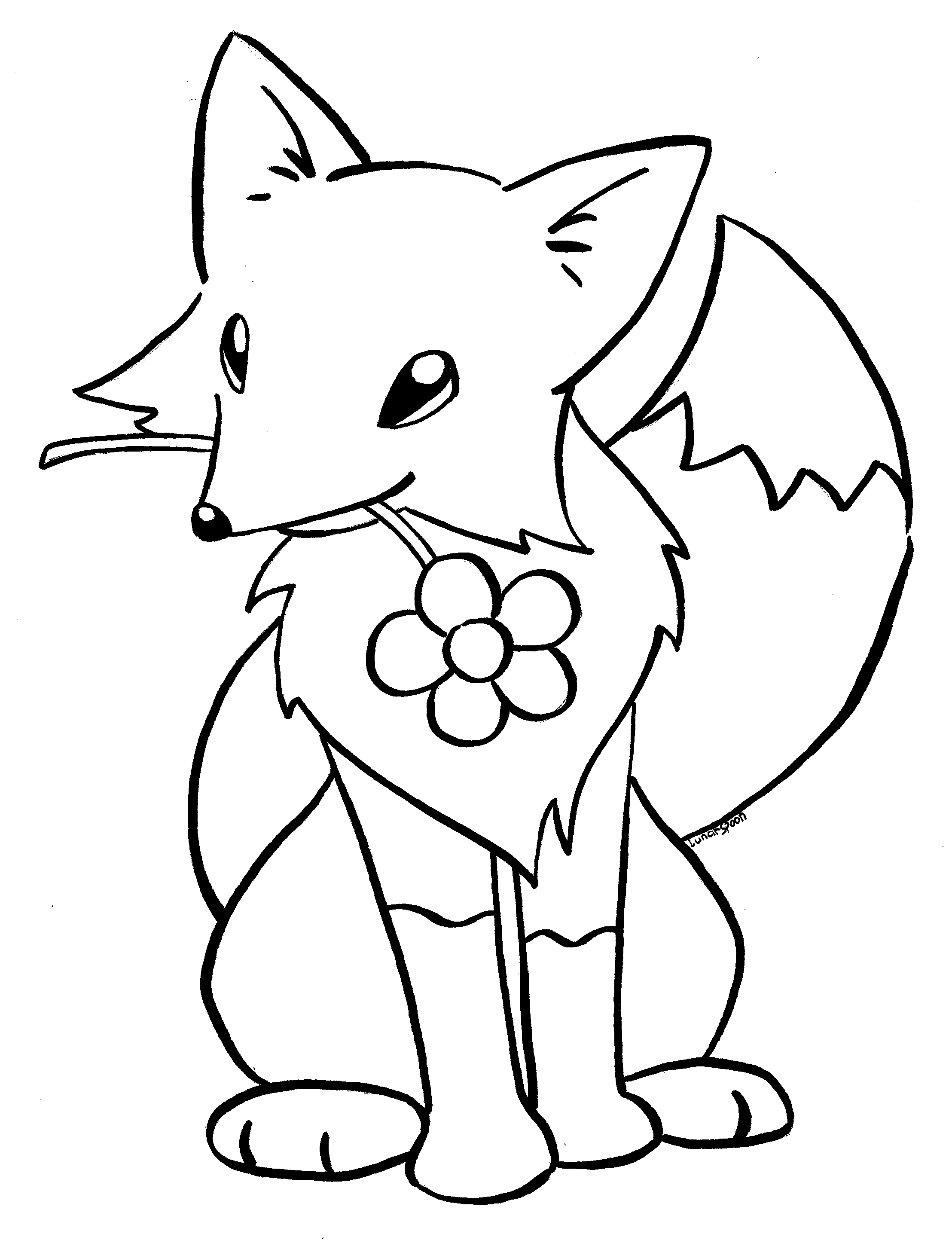Christmas Fox Coloring Pages Coloring Pages For All Ages