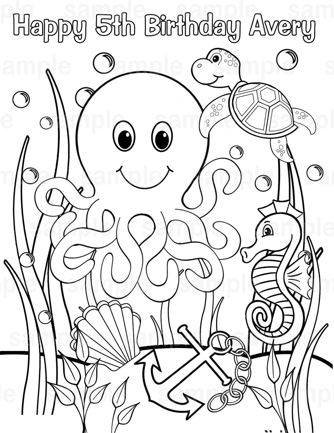 Underwater Scene Coloring Pages