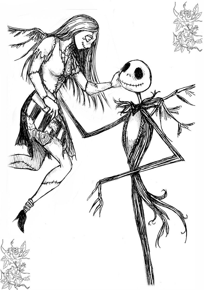 12 Pics Of Sally Nightmare Before Christmas Coloring Pages - Jack ...