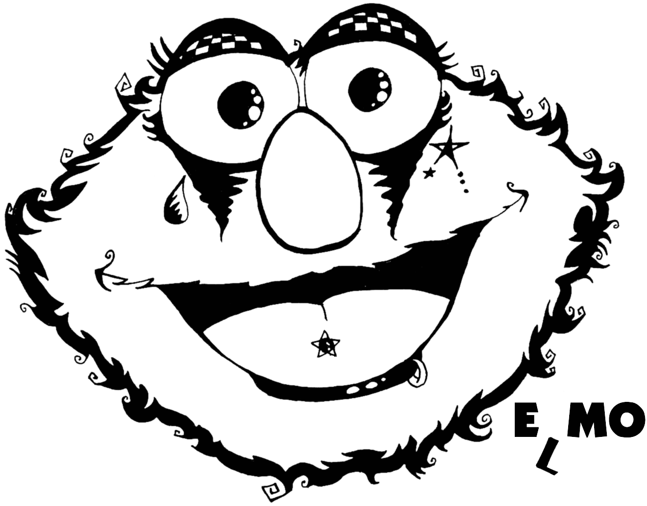 Emo Elmo Colouring Pages Colorinenet 6260 Coloring Home