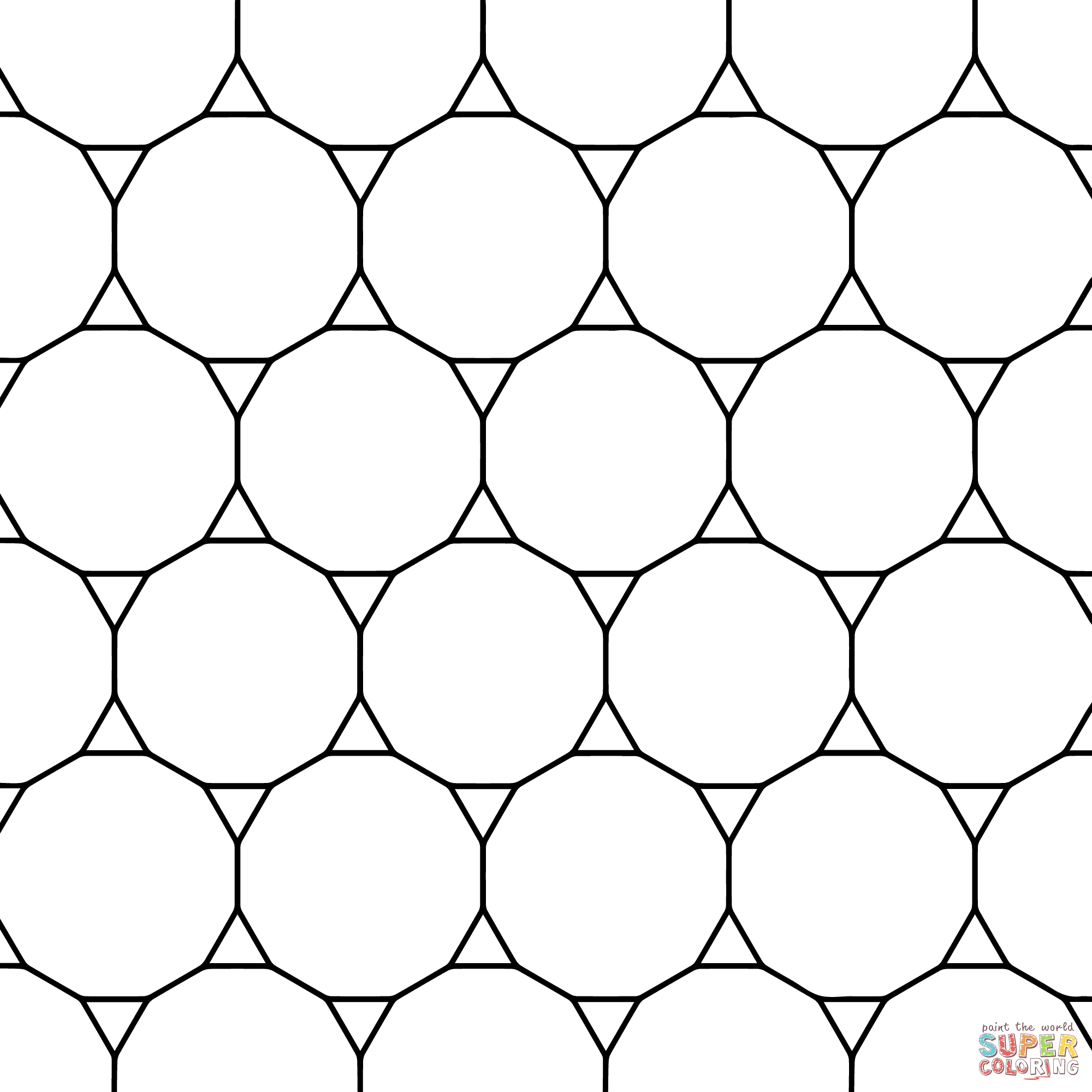 Tessellation Patterns Coloring Pages Coloring Home