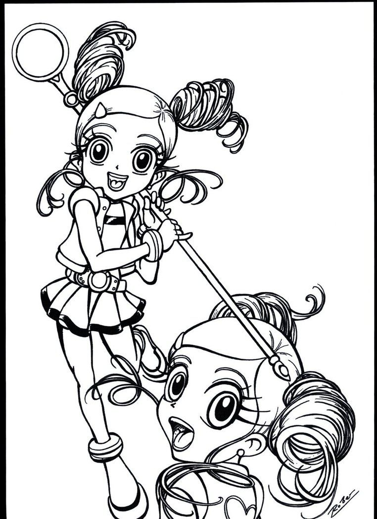 Adult Cute Powerpuff Girls Z Coloring Pages Images cute power puff girls z coloring pages az powerpuff bubble miyako gotokuji by robersilva on deviantart page gallery images