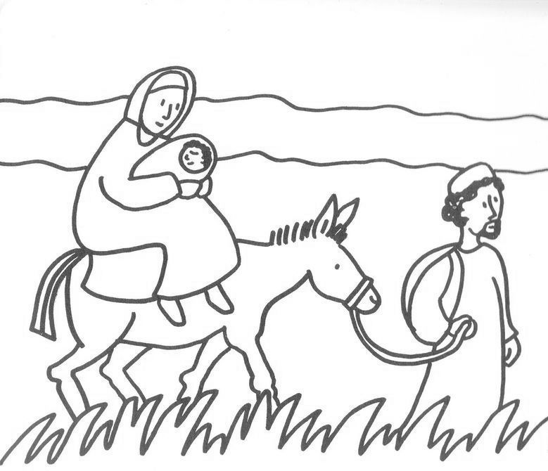Coloring Page Of Joesph And Mary