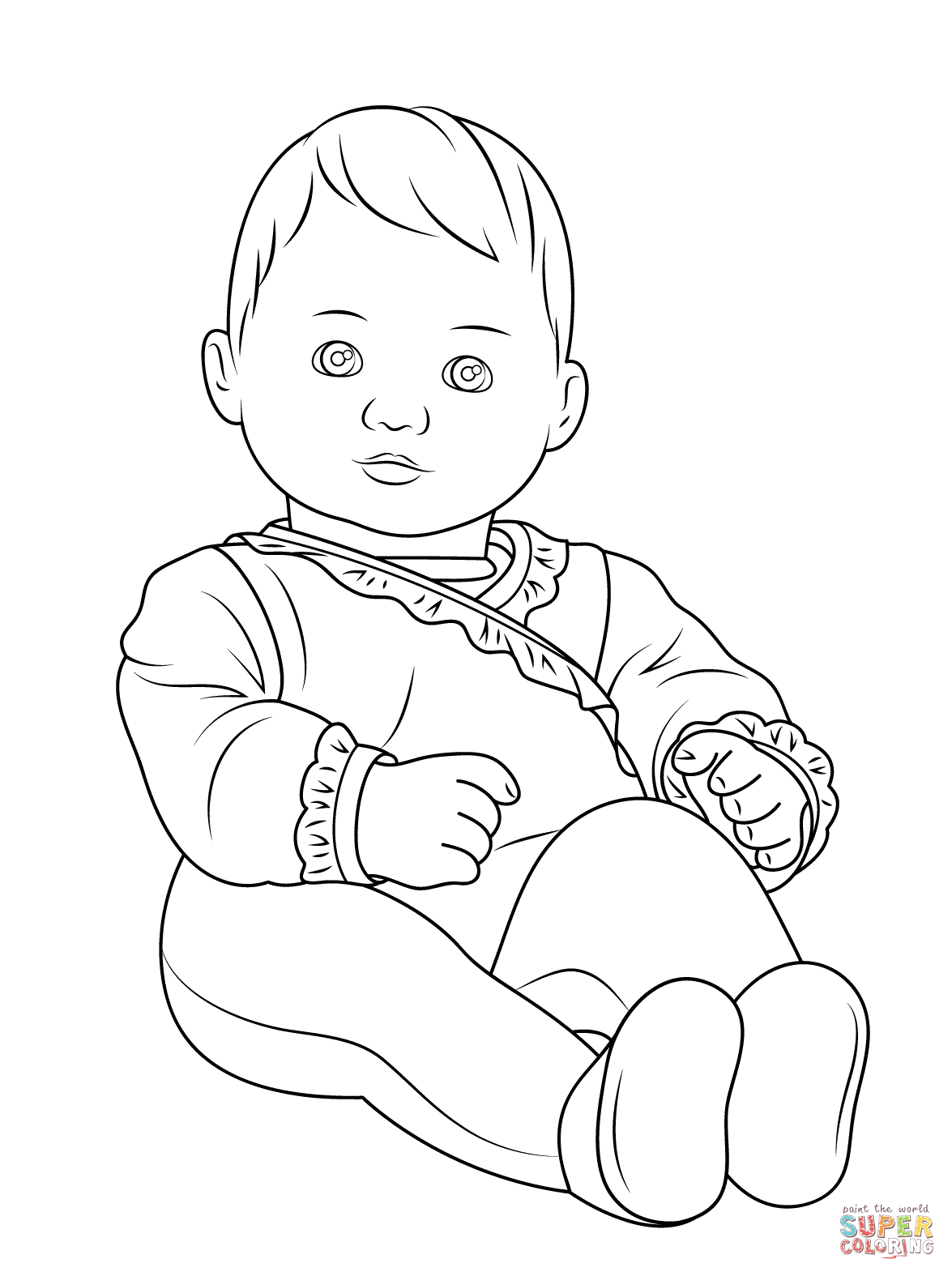 coloring pages of little girl - photo#26