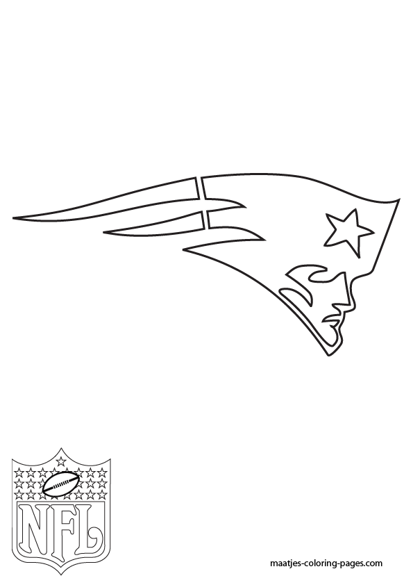 New England Patriots Logo Coloring Pages Sketch Coloring Page