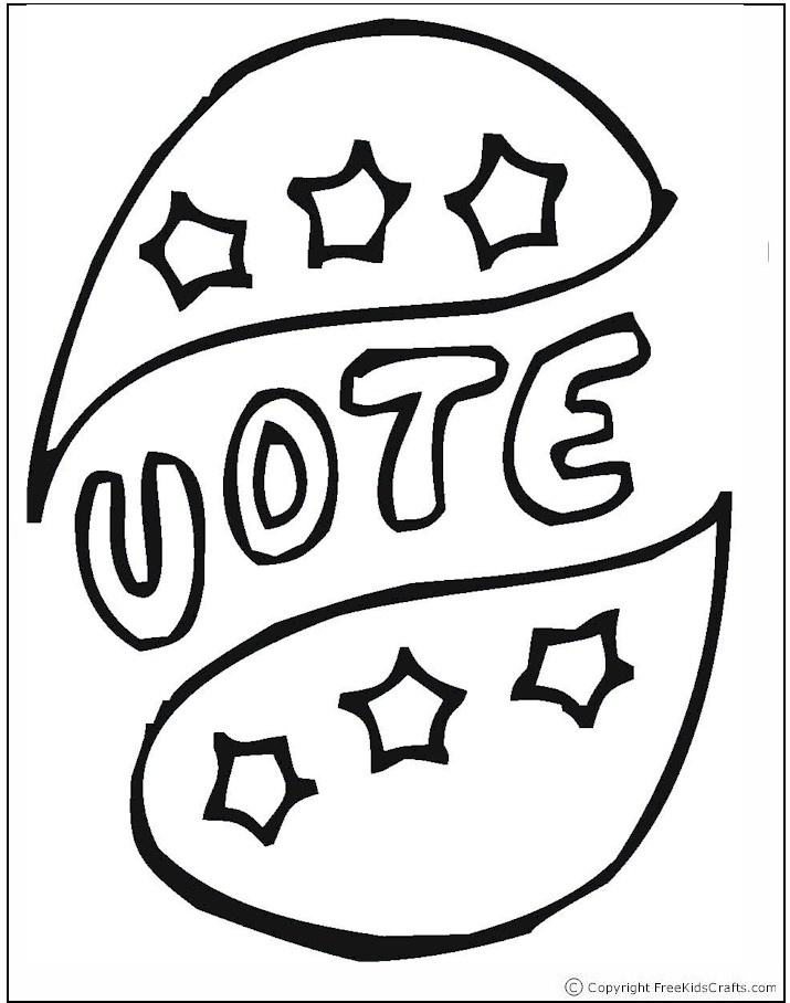 election coloring pages for kids - photo#10