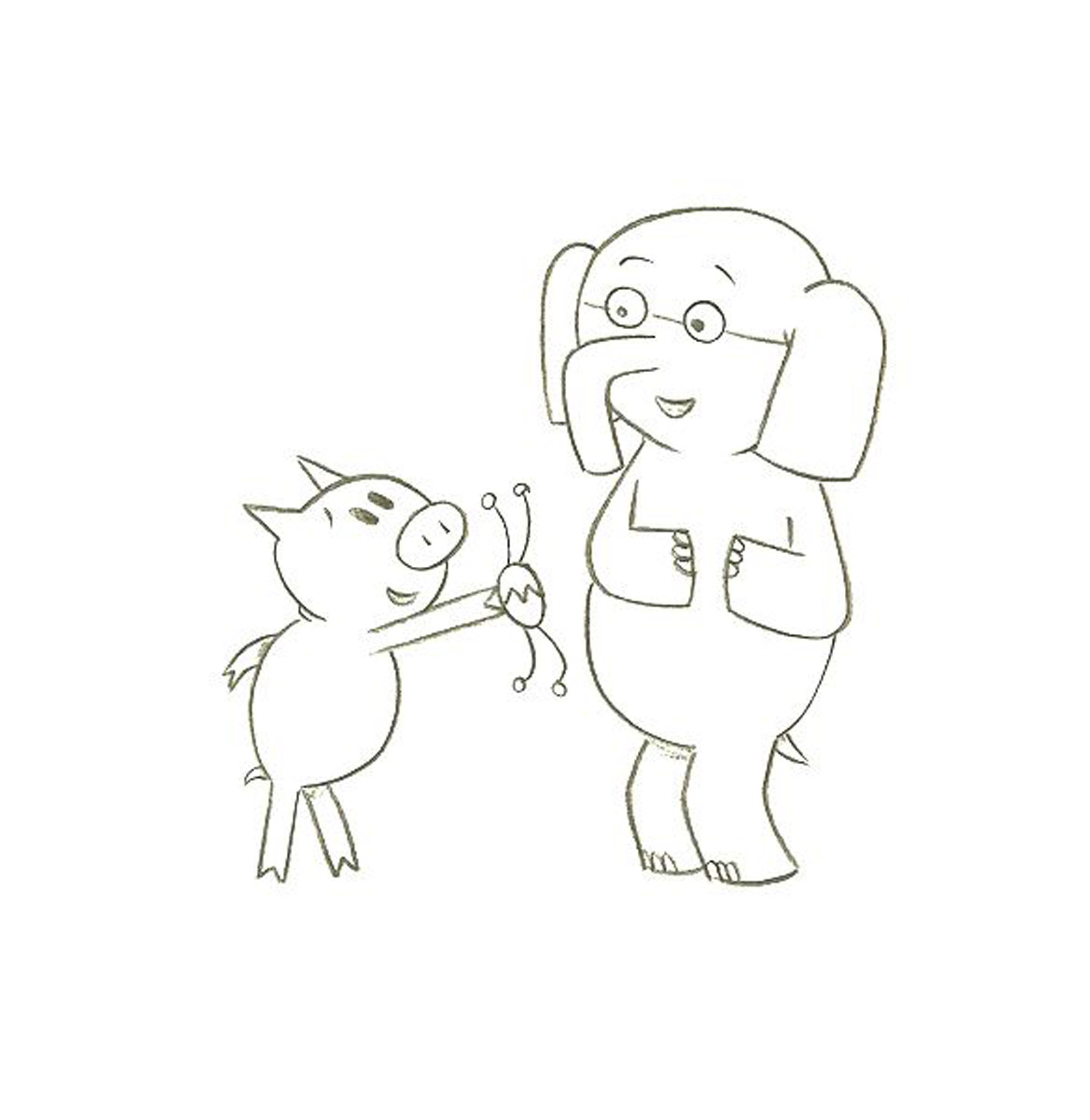 Mo Willems Coloring Pages Elephant And Piggie Coloring Home Elephant And Piggie Coloring Pages