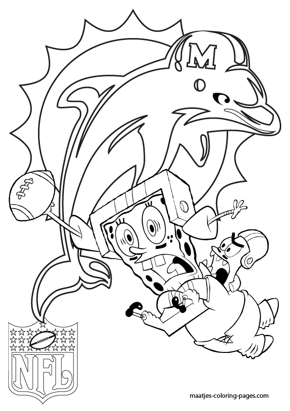 Nfl Coloring Pages Pdf : Miami dolphins coloring page home