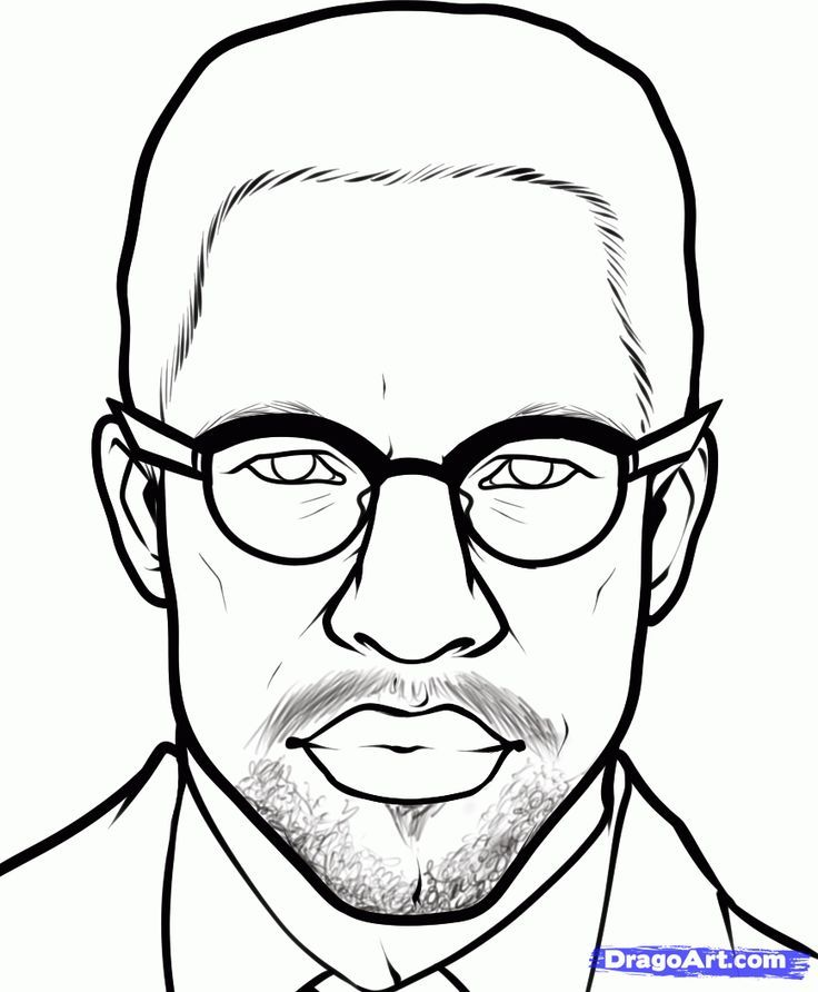 Malcolm X Coloring Pages Fun Ideas Pinterest Malcolm X