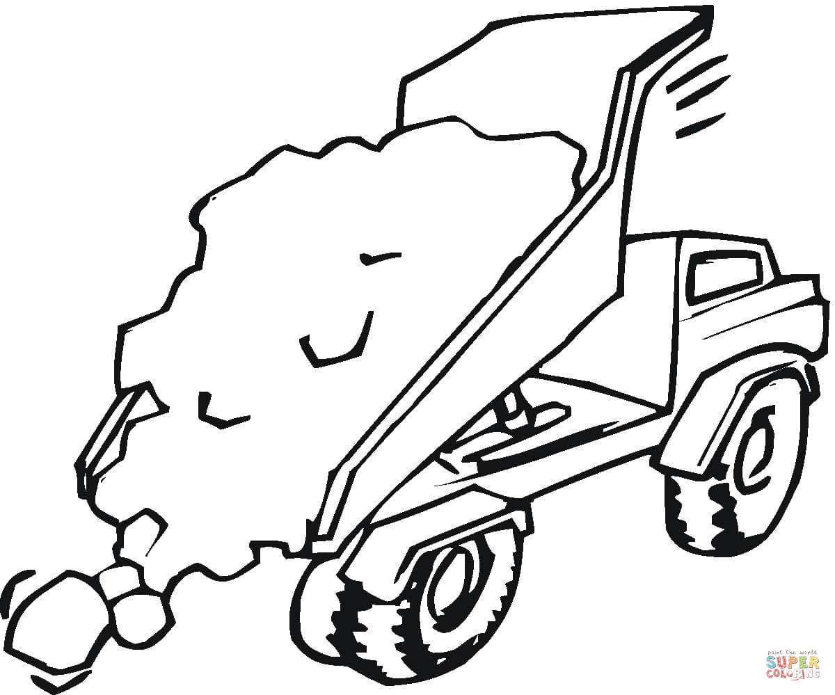 Cement Mixer Coloring Page Coloring