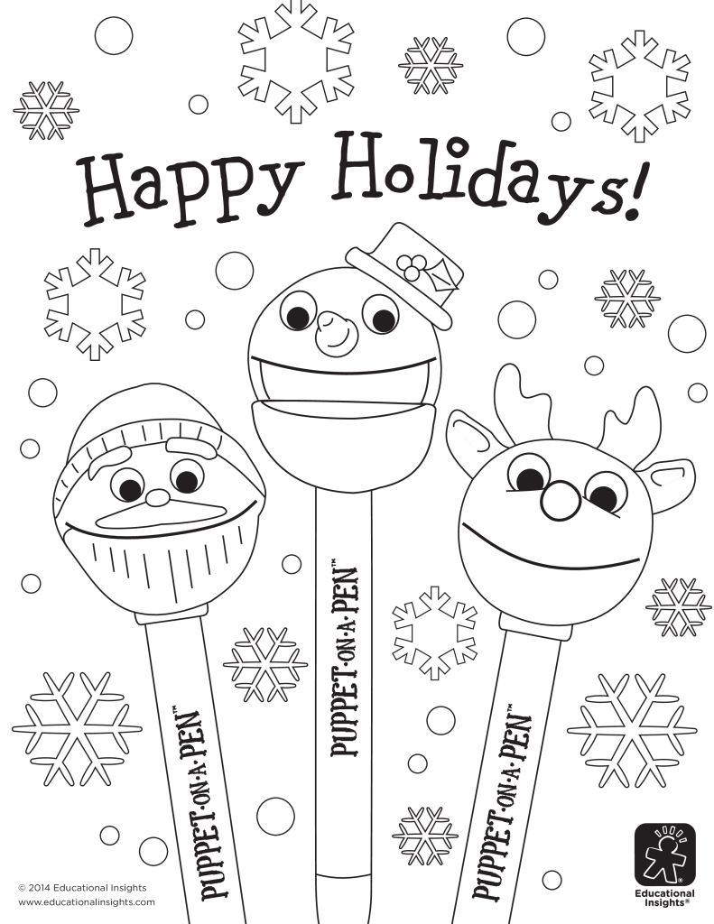 Coloring Pages Winter Holiday Coloring Pages