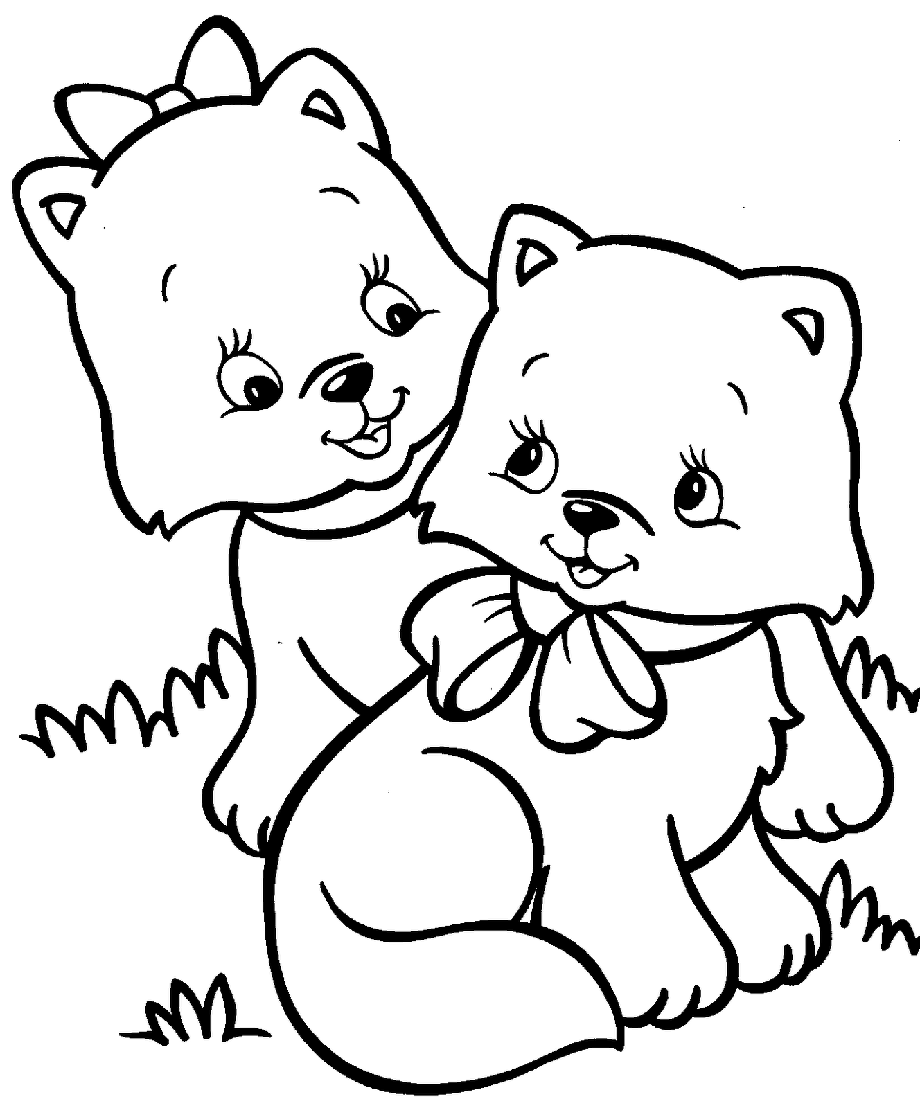Baby Cat Coloring Pages - Coloring Home