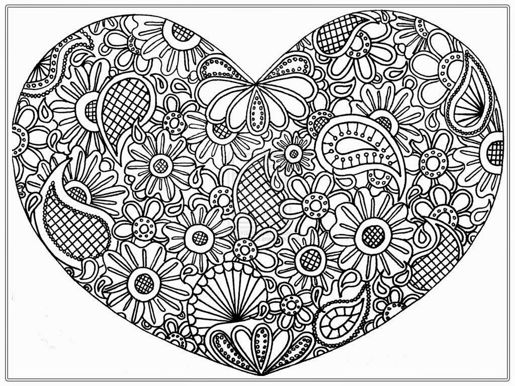 Big Heart Coloring Pages To Print - Coloring Pages For All Ages