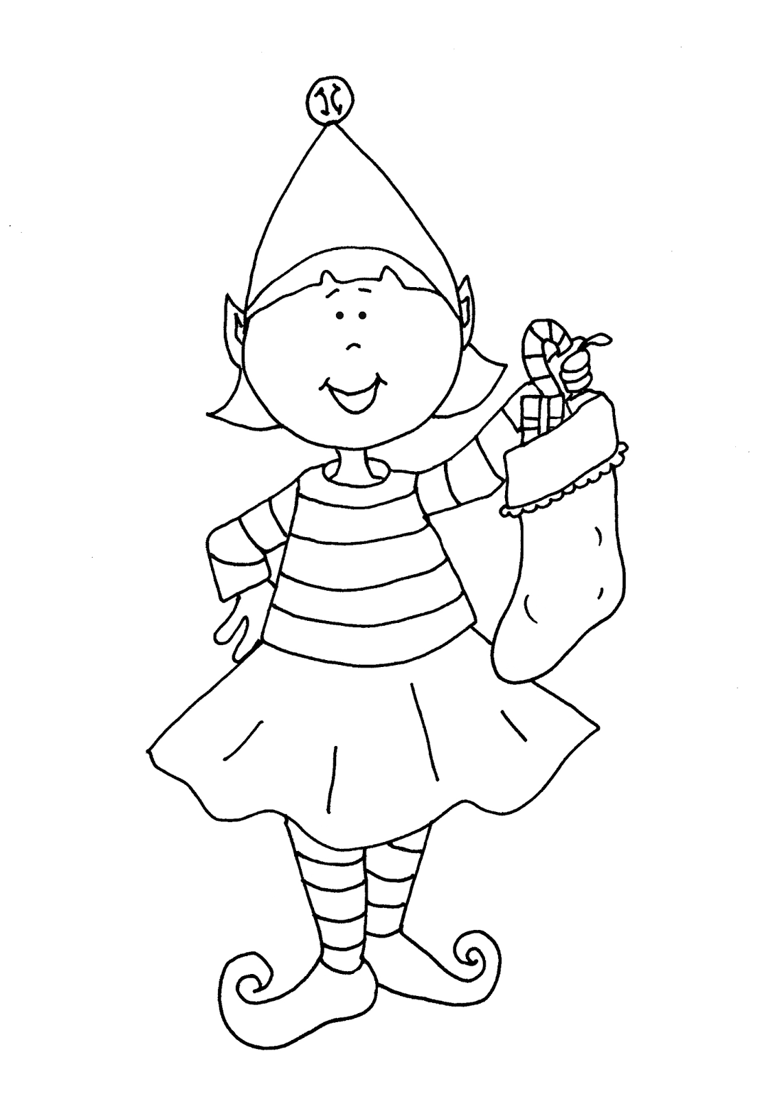 elf christmas coloring pages printable - photo#38