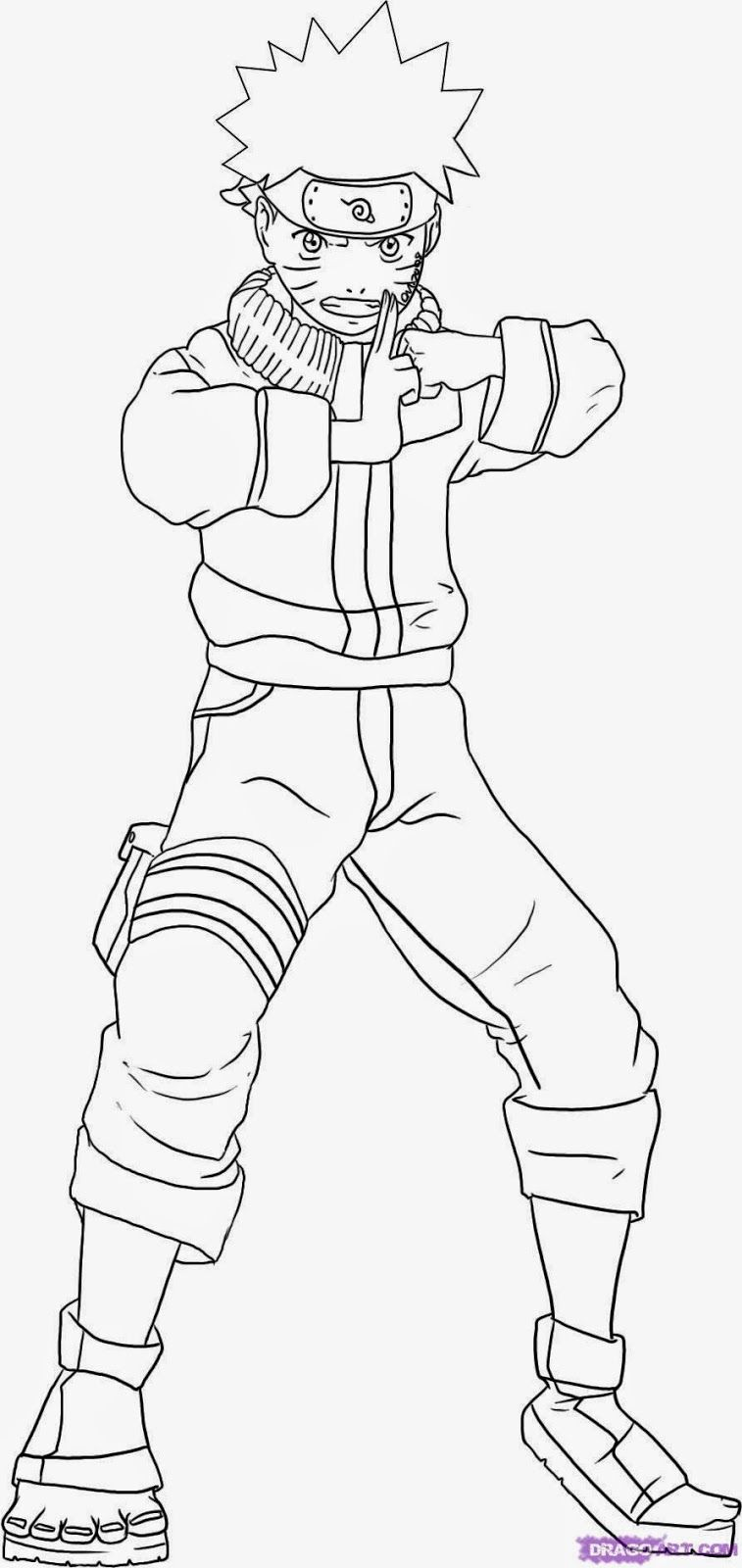 Naruto Uzumaki Coloring Pages - Coloring Home