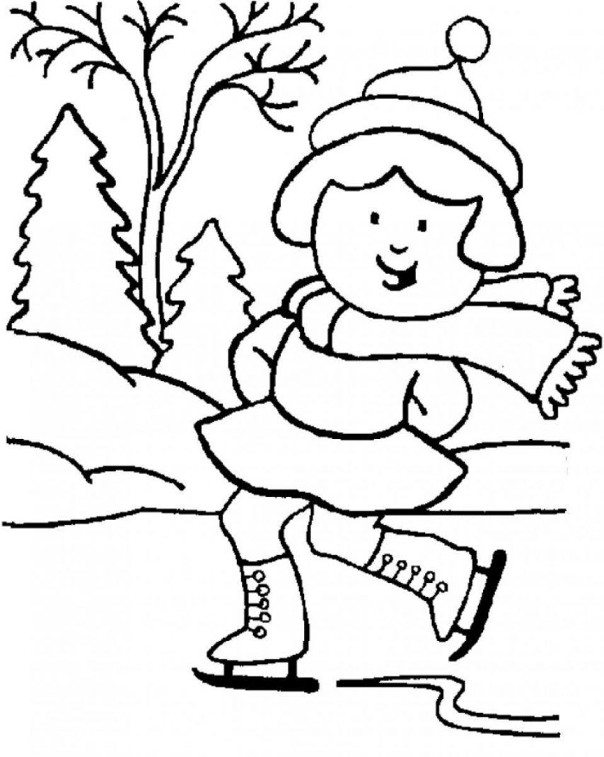 Winter Coloring Pages For Kindergarten Coloring Home