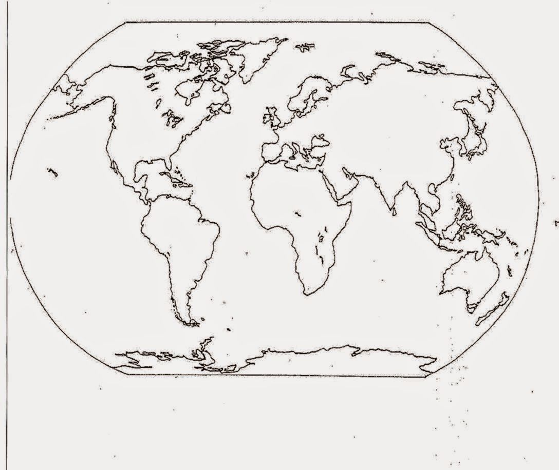 Dltk Coloring Pages World Map