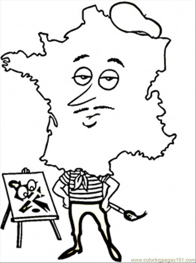 france coloring pages free - photo#9