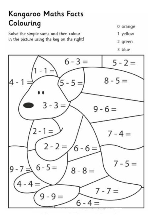 10 Pics Of Free Printable Math Coloring Pages