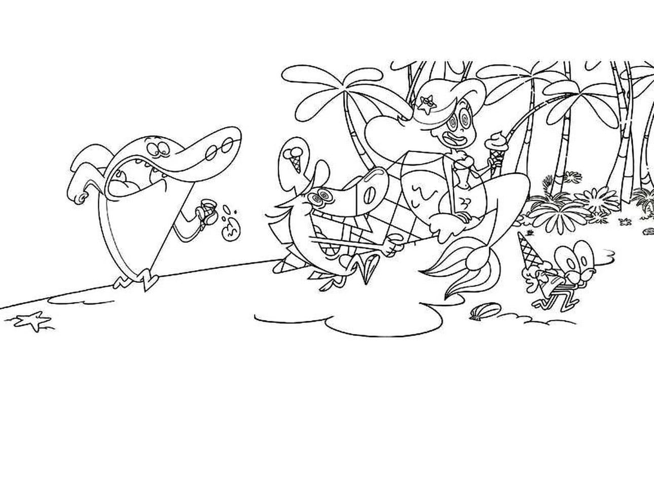 Zig And Sharko Coloring Pages   Coloring Home