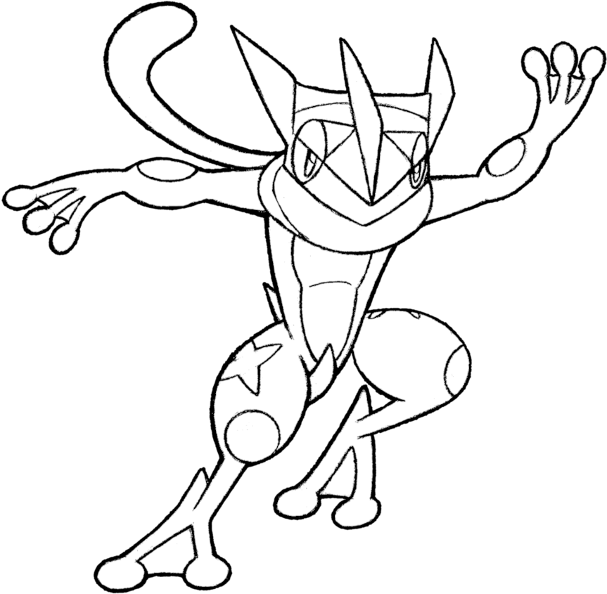 Ash Greninja Coloring Pages Coloring Home