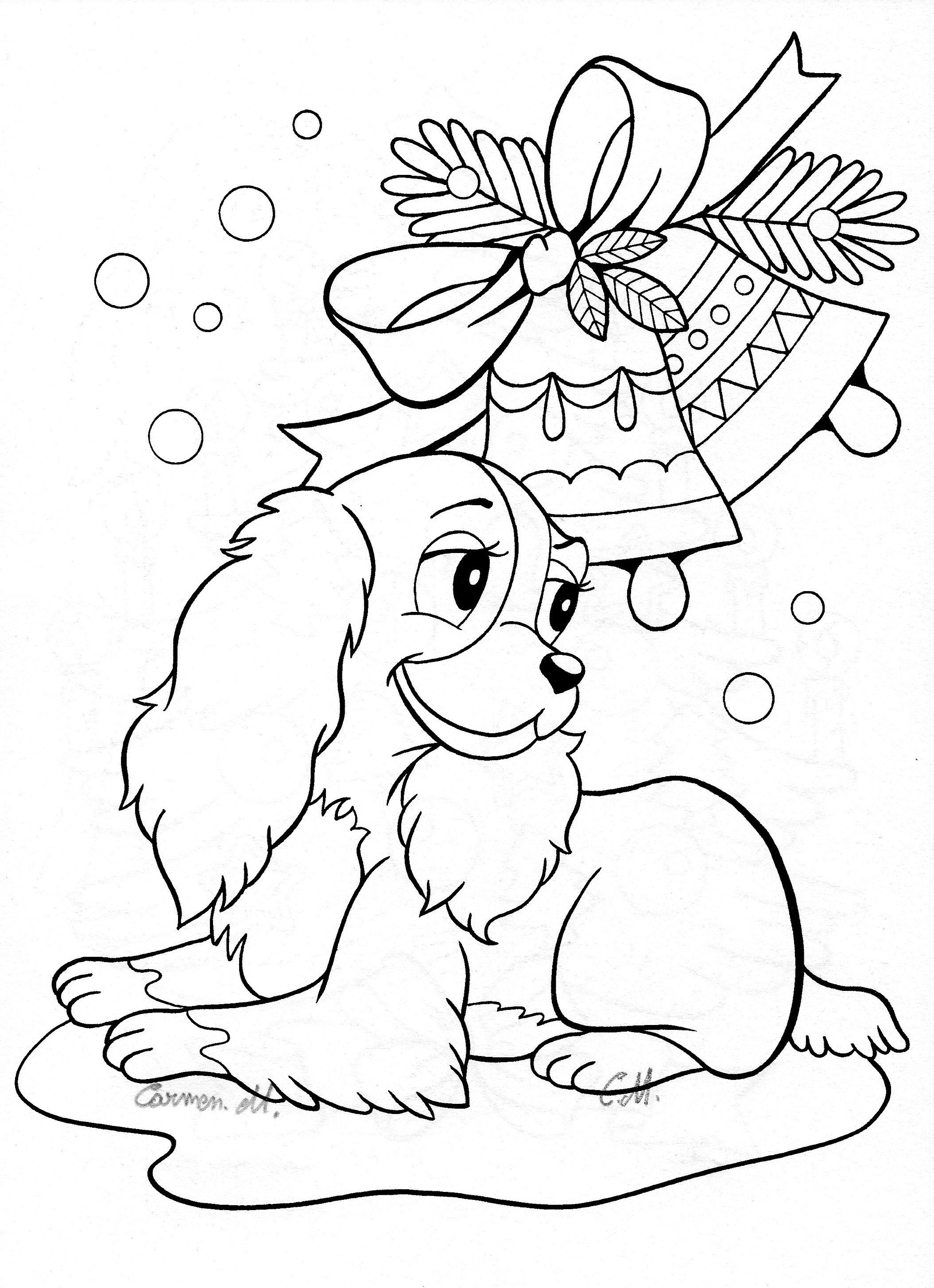 Pin by Olga Kudriavtseva on Disegni Natale | Printable christmas coloring  pages, Disney coloring pages, Dog coloring page