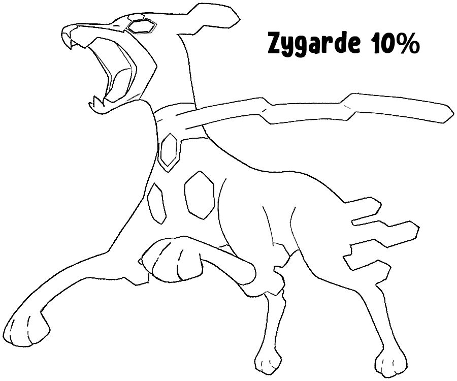 Zygarde Coloring Pages Coloring Home